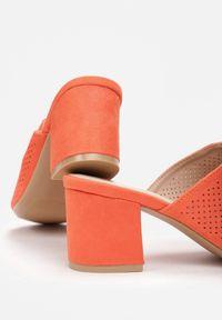 Renee - Pomarańczowe Klapki Klepheilla. Kolor: pomarańczowy