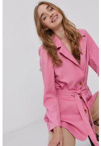Y.A.S - Marynarka. Okazja: na co dzień. Kolor: różowy. Materiał: tkanina. Wzór: gładki. Styl: klasyczny, casual