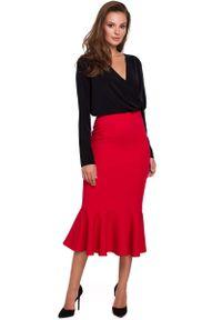 Czerwona spódnica ołówkowa MAKEOVER