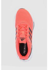 Adidas - adidas - Buty EQ21 Run. Nosek buta: okrągły. Zapięcie: sznurówki. Kolor: pomarańczowy. Materiał: materiał. Sport: bieganie