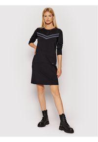 Liu Jo Sport Sukienka codzienna TF1146 J6242 Czarny Regular FIt. Okazja: na co dzień. Kolor: czarny. Typ sukienki: proste, sportowe. Styl: sportowy, casual