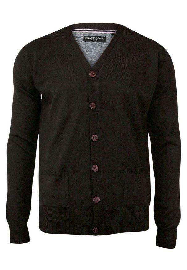 Brązowy sweter Brave Soul elegancki, na co dzień