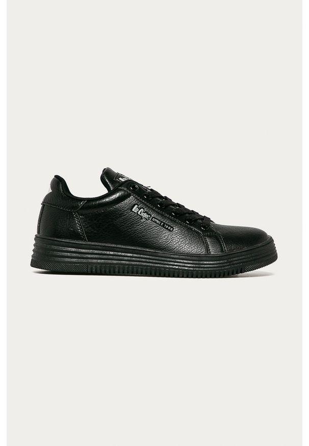 Czarne sneakersy Lee Cooper na sznurówki, z cholewką