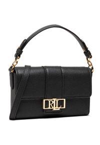 Czarna torebka klasyczna Lauren Ralph Lauren skórzana