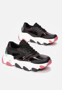 Renee - Czarne Sneakersy Lagurien. Kolor: czarny