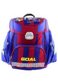 Goal Teczka szkolna, Bramka 3D, kolor niebieski. Kolor: niebieski
