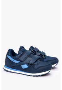 Casu - Niebieskie buty sportowe na rzepy casu c913. Zapięcie: rzepy. Kolor: niebieski