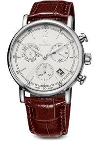 Zegarek Swiza Zegarek męski Alza Chrono SST biało-brązowy (WAT.0153.1001). Kolor: biały, wielokolorowy, brązowy