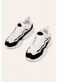 Czarne buty sportowe Answear Lab z cholewką, na obcasie, z okrągłym noskiem