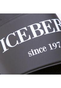 Iceberg - Klapki ICEBERG - 21EIU1302A Nero. Okazja: na co dzień. Kolor: czarny. Materiał: skóra ekologiczna, materiał. Styl: casual