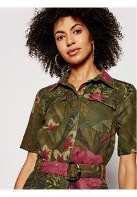Zielona sukienka Desigual koszulowa #5