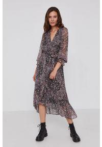 Pepe Jeans - Sukienka Taylor. Materiał: tkanina. Długość rękawa: długi rękaw