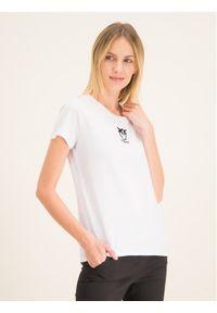 Biały t-shirt Pinko