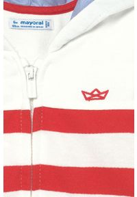 Czerwona bluza rozpinana Mayoral z kapturem, casualowa, na co dzień
