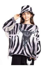 ROBERT KUPISZ - Szara bluza Kids Crazy Bull. Kolor: szary. Materiał: bawełna. Wzór: motyw zwierzęcy, aplikacja, nadruk