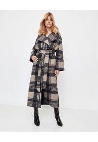 Czarny płaszcz MARLU na co dzień, na zimę, długi, z długim rękawem
