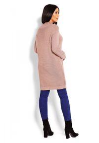 Sweter ze stójką, długi