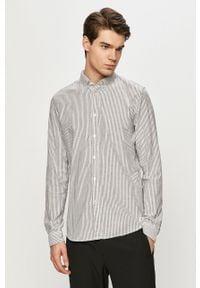 Szara koszula Tom Tailor casualowa, długa, na co dzień, button down
