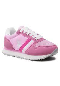U.S. Polo Assn - Sneakersy U.S. POLO ASSN. - Sand NOBIK4246S0/TH1 Pink/Whi. Kolor: różowy. Materiał: skóra ekologiczna, materiał, skóra. Szerokość cholewki: normalna