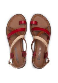 Refresh - Sandały REFRESH - 72655 Rojo. Okazja: na co dzień. Kolor: czerwony. Materiał: skóra ekologiczna, skóra. Sezon: lato. Styl: casual #6