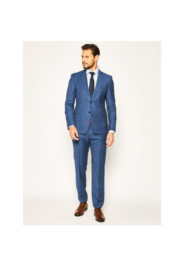 Niebieskie spodnie garniturowe Strellson