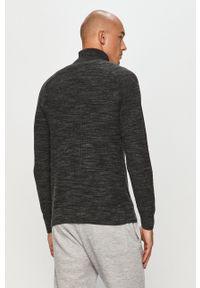 Premium by Jack&Jones - Sweter. Okazja: na co dzień. Typ kołnierza: golf. Kolor: szary. Materiał: dzianina. Styl: casual