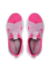 Superfit - Sneakersy SUPERFIT - 1-000310-5000 M Rosa/Rosa. Kolor: różowy. Materiał: skóra ekologiczna, materiał. Szerokość cholewki: normalna