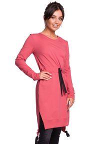 Sukienka asymetryczna, z długim rękawem