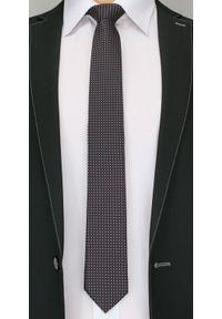 Klasyczny Krawat Męski w Drobny Wzór - 6 cm - Angelo di Monti, Kolorowy. Kolor: wielokolorowy. Wzór: geometria. Styl: klasyczny