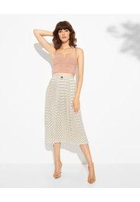 Elisabetta Franchi - ELISABETTA FRANCHI - Spódnica midi z nadrukiem. Kolor: biały. Wzór: nadruk