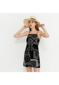 House - Wiskozowa sukienka na ramiączkach - Wielobarwny. Materiał: wiskoza. Długość rękawa: na ramiączkach