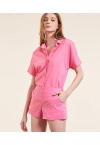 Fira Koszula Od Piżamy Z Krótkimi Rękawami - Różowy - Etam. Kolor: różowy. Długość: krótkie