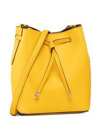 Żółta torebka worek Lauren Ralph Lauren
