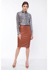 Brązowa spódnica ołówkowa Lanti