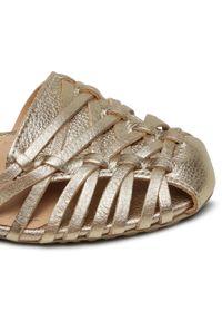 Złote sandały Sergio Bardi