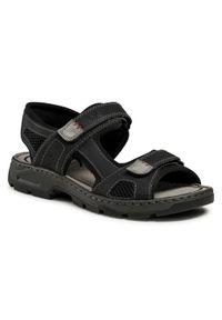 Czarne sandały Rieker