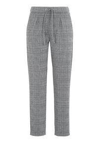 Happy Holly Spodnie dżersejowe Mathilda w kratkę female ze wzorem 32/34. Stan: podwyższony. Materiał: jersey. Wzór: kratka