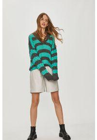 Zielony sweter Answear Lab wakacyjny, długi