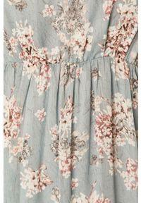 Niebieska sukienka Vila maxi, rozkloszowana