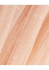NEEDLE & THREAD - Tiulowa spódnica midi. Stan: podwyższony. Kolor: beżowy. Materiał: tiul