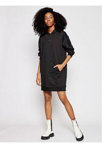 Czarna sukienka dzianinowa Calvin Klein Jeans