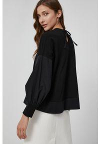 Victoria Victoria Beckham - Bluzka bawełniana. Kolor: czarny. Materiał: bawełna