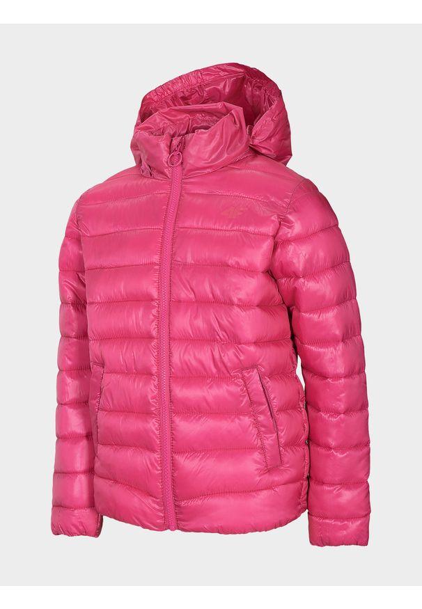 Różowa kurtka zimowa 4f