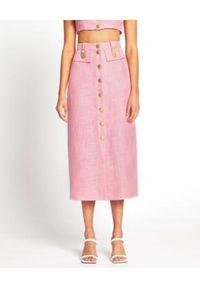 ALICE MCCALL - Spódnica midi Queenie. Stan: podwyższony. Kolor: różowy, fioletowy, wielokolorowy. Materiał: tkanina, materiał. Wzór: aplikacja