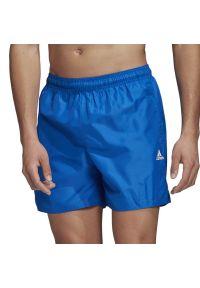 Niebieskie spodenki sportowe Adidas krótkie, do pływania