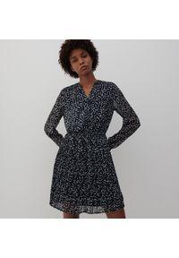 Reserved - Sukienka z drobnym wzorem - Szary. Kolor: szary