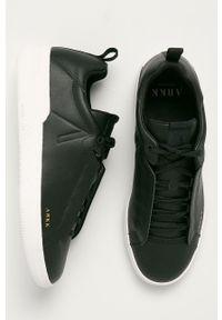 Czarne sneakersy ARKK Copenhagen na sznurówki, z cholewką