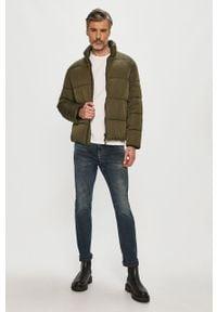 Zielona kurtka Tommy Jeans na co dzień, bez kaptura, casualowa