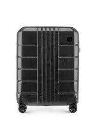 Czarna walizka Wittchen w kolorowe wzory