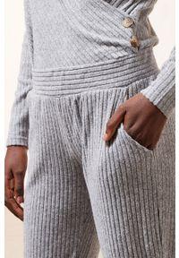 Szara piżama Etam gładkie